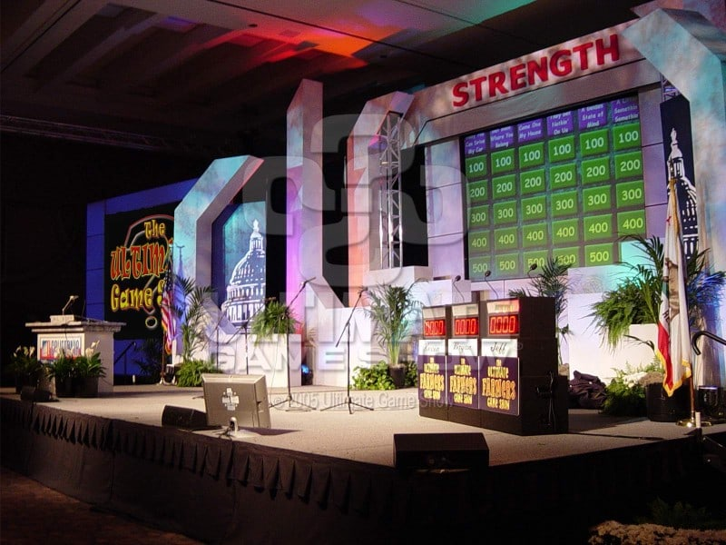 Ultimate Game Show presents a custom game show at a company conference.