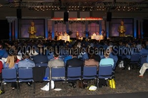 Ultimate Game Show perfoms at a corporate event.