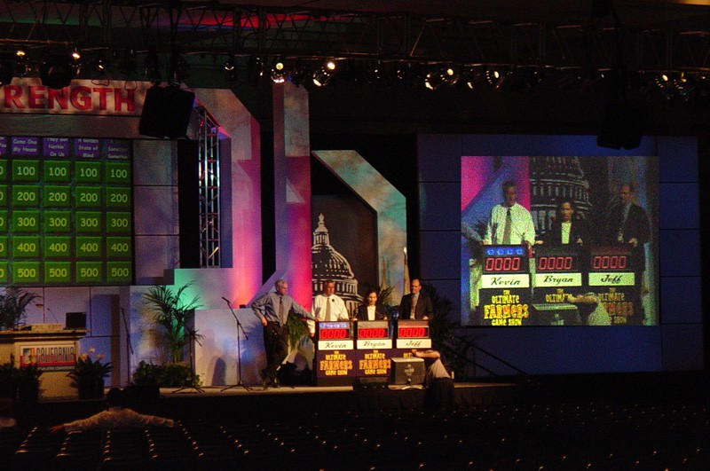 Ultimate Game Show performs at a corporate conference