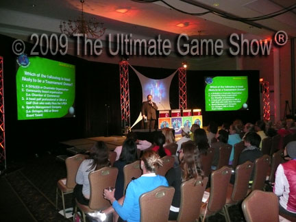Ultimate Game Show presents a custom keypad based game show at an association conference.
