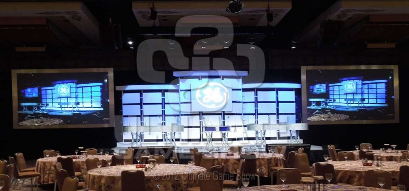 Ultimate Game Show provides on-stage game show production at corporate event.