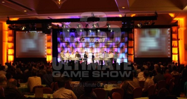 Ultimate Game Show presents an on-stage game show at a corporate meeting
