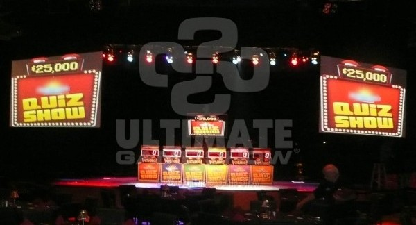 Ultimate Game Show presenting on-stage game show at a Vegas Casino VIP event