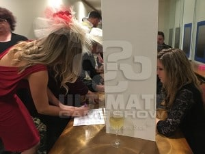 Derby hats are a typical accessory at Ultimate Derby animated horse racing from Bryan Quinn Productions