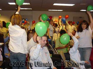 A physical team challenge added into a training game show from Ultimate Game Show.